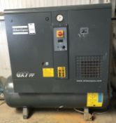 Atlas Copco GX7FF EP Screw Type Compressor (2014), Serial Number CA1807321, 3-Phase, 1,407 hours (