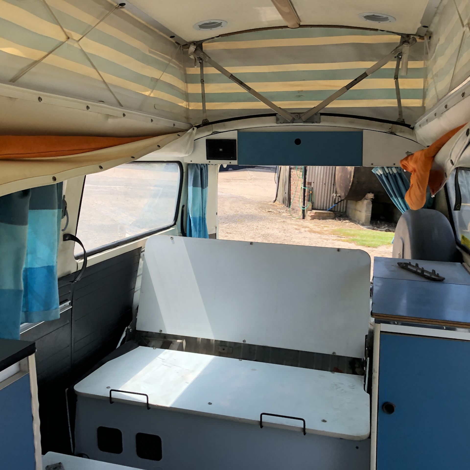 VW Microbus 8 Seater Caravanette Devon - 'Mr Blue' Petrol, Registration UMH 420S, First Registered - Image 43 of 47
