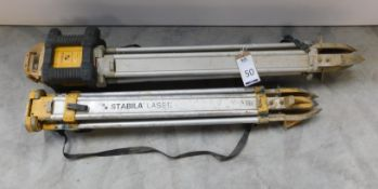 Stabila Laser LAR200 Tripod & another, Similar (Location: Brentwood. Please Refer to General Notes)