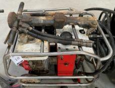 Honda Petrol Driven Hydraulic Breaker Pack with Breaker & Hoses, Serial Number 118004980792 (