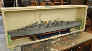 Exhibition quality working scale model of the Second World War 'Abdiel' class Royal Naval mine