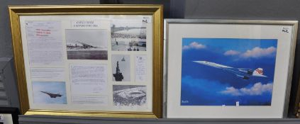 Concorde, 'A Supersonic Era', a collage of photographs and text in one frame, being a limited