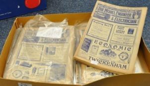 A collection of model engineer and electrician magazines, believed to be 1911-1912, no. 551-562