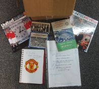 Box of assorted football and rugby programmes, Manchester United, club and internationals, FA Cup