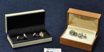 Clogau silver cufflinks and a pair of Links of London cufflinks. (B.P. 21% + VAT)