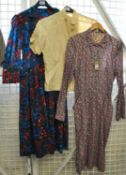 A vintage floral pattern cotton dress by Liberty, together with another floral print dress by