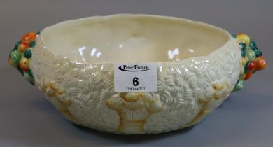Royal Staffordshire ceramics by Clarice Cliff 'Celtic Harvest' design two handled bowl. (B.P.