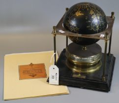 Franklin Mint 'The Royal Geogaphical Society World Clock' in the form of a globe. Together with