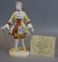 Coalport figurine 'Sun' limited edition 280/2500, 'The Millennium Ball' modelled by Jack Glynn, in