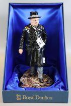 Royal Doulton 'Winston S Churchill' HN3433 figurine, limited edition of 1205/5000, in original