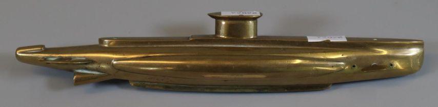 Naive model heavy brass study of a submarine. (B.P. 21% + VAT)