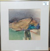 Tom Nash (20th Century Welsh), 'Winter Landscape,Font Vielle, Daudet', signed by the artist, mixed
