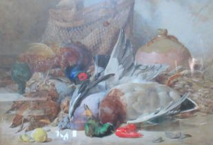 J Hardy (British, 19th Century), study of dead game, indistinctly signed, dated 1864, 53 x 77cm
