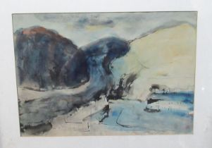 Will Roberts (Welsh 1907-2000), 'Afan Valley', signed and dated 1984, watercolours. 35 x 50cm