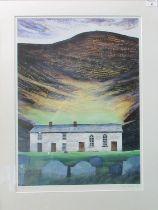 After Ogwyn Davies (modern Welsh), 'Soar y mynydd', limited edition, coloured print no. 7/50, signed