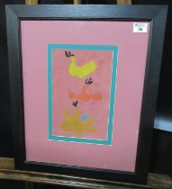 Eric Malthouse (British 1914-1997), abstract study, signed and dated '76, watercolours. 29 x 19cm