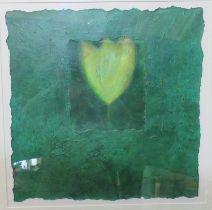 Vivienne Williams (20th Century Welsh), 'Tara', mixed media on paper. 50 x 50cm approx. Metal