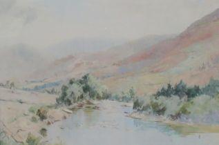 William Grant Murray (Scottish , 1877-1950), 'Glenorcy', signed with monogram, watercolours. 34 x