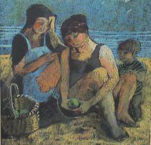Claudia Williams (Welsh born 1933), 'Lumiere de la lampe', 'La Pomme' and 'Le Soir', pastels, three,