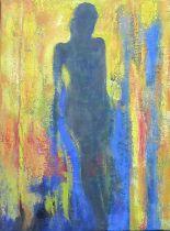 Ozzie Rees Osmund (Welsh 1943-2015), 'Glofenws', a full length portrait study, oils on canvas. 60