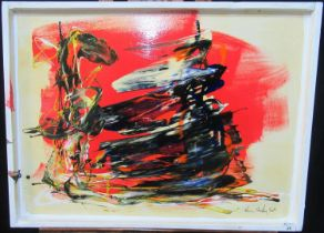 Kevin Sharkey (Contemporary Irish), abstract study, acrylic on board, signed and dated 2009. 58 x