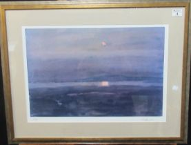 After Sir John Kyffin Williams (1918-2006), evening landscape, limited edition artist's proof