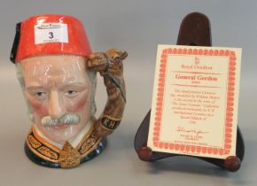 Royal Doulton character jug 'The Great Generals Collection', 'General Gordon' D6869, with