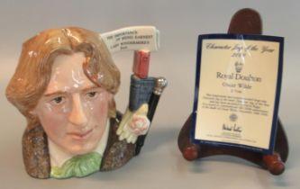 Royal Doulton bone china character jug of the year 2000 'Oscar Wilde' D7146, modelled by David
