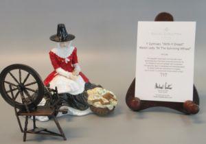 Royal Doulton bone china figurine 'Y Gymraes, Wrth Y Droell', Welsh lady at the spinning wheel