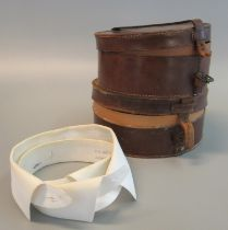 Two leather collar boxes containing original collars. (2) (B.P. 21% + VAT)