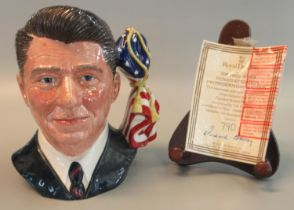 Royal Doulton character jug, 'The President's Signature Edition 1984 Presidential Election, Ronald