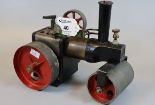 Mamod live steam model steam roller. (B.P. 21% + VAT) General wear and tear with use.
