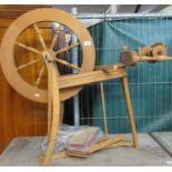 Ashford beech spinning wheel, with accessories. (B.P. 21% + VAT)