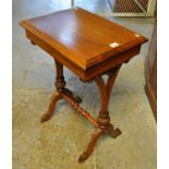 Victorian style mahogany stretcher type table of narrow and small proportions. (B.P. 21% + VAT)