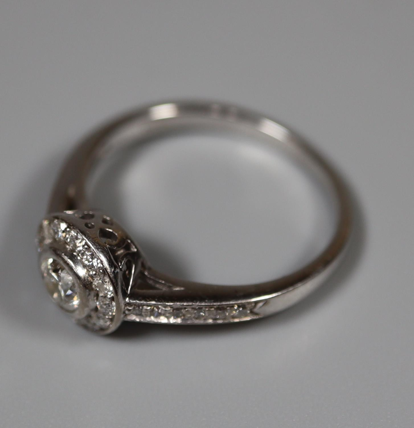 18ct white gold and diamond halo ring. Size L. Approx size L Approx weight 3 grams. (B.P. 21% + VAT) - Image 3 of 3