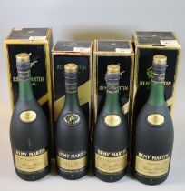 Two similar Remy Martin fine champagne V.S.O.P cognac in original boxes, 70cl. Together with two