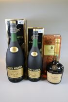 Two Remy Martin cognac V.S.O.P. fine champagne, both in original boxes, one 1L, one of larger