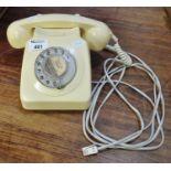 20th Century plastic rotary dial telephone. (B.P. 21% + VAT)