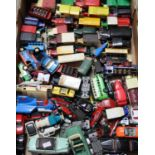 Tray of play worn diecast model vehicles; sports cars, Corgi Supermobile promotional vehicles