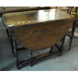 Early 20th century oak gate leg table. (B.P. 21% + VAT)