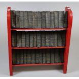 Complete Shakespeare 39 miniature volumes in miniature wooden bookcase. (B.P. 21% + VAT)
