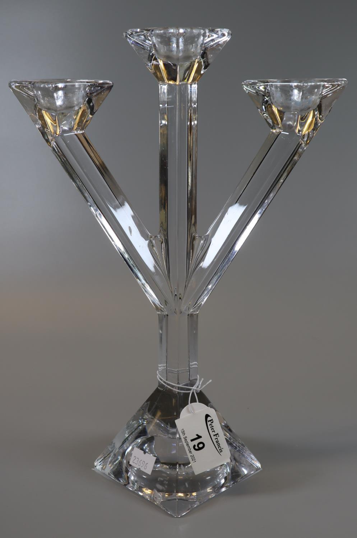Villeroy & Boch glass three section table candelabrum. (B.P. 21% + VAT)