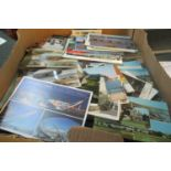 Postcards of Wales in large box. Many 100s of cards from the Queen Elizabeth II period, 1950's