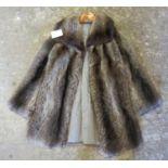 A vintage raccoon fur jacket. (B.P. 21% + VAT)