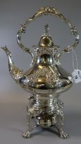 Reed & Barton silver plated spirit kettle on stand. (B.P. 21% + VAT)