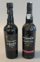 Triple Crown Croft Port, 75cl. 20% vol. Together with a Warre's Warrior Special Reserve Port,