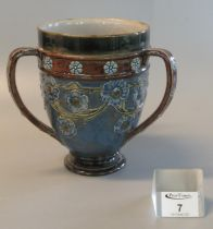 Royal Doulton pottery tyg, impressed marks to the base W.T Lamb & Sons compliments Xmas 1925,