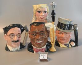Collection of four Royal Doulton 'The Celebrity Collection' character jugs to include; 'Louis