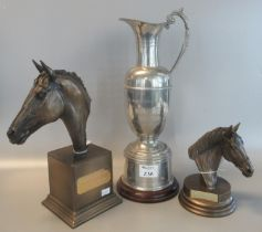 Steeplechase ewer 'The Bet 365 Shropshire Cup handicap hurdle Ludlow 2003' winning owner trophy,