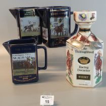 Two Seton pottery limited edition Martell Grand National jugs to include; 'Party Politics 1992'